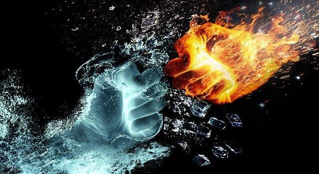 Feuer versus Wasser